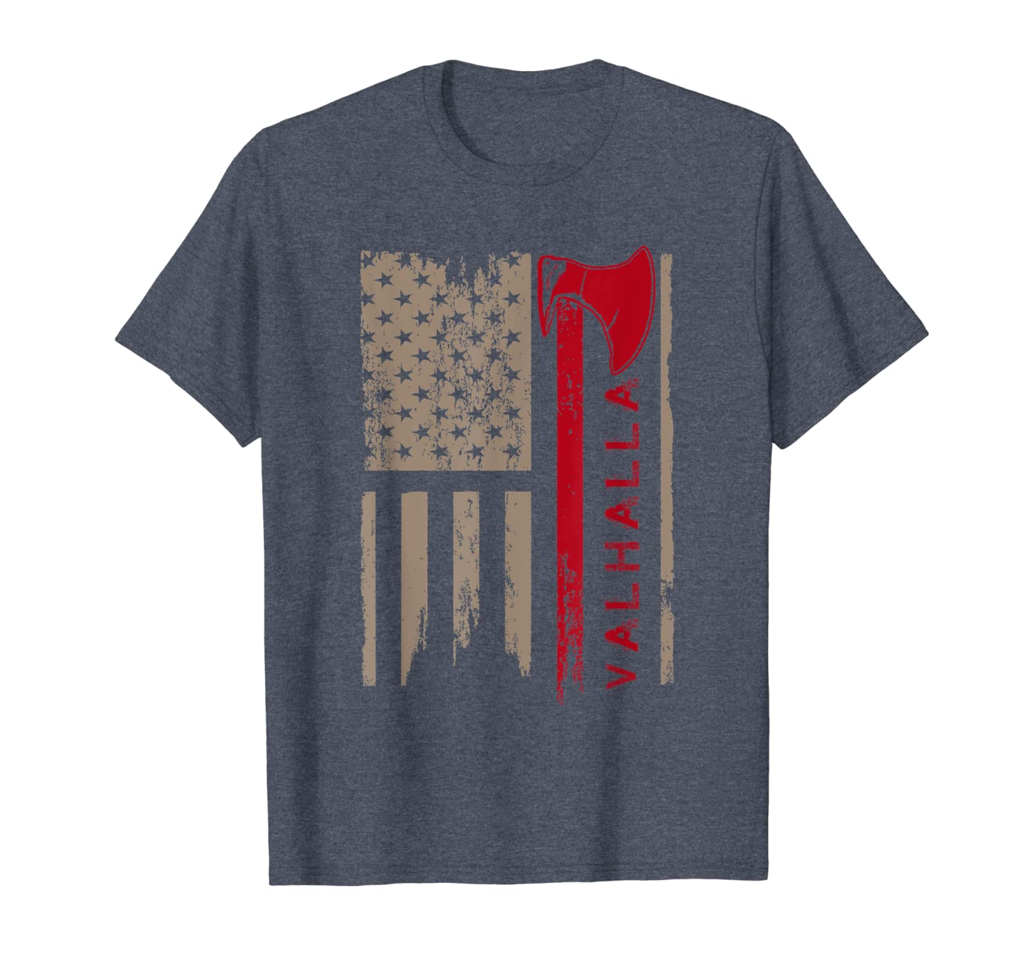 American Flag Viking Axe T-Shirt Funny Gift-TH