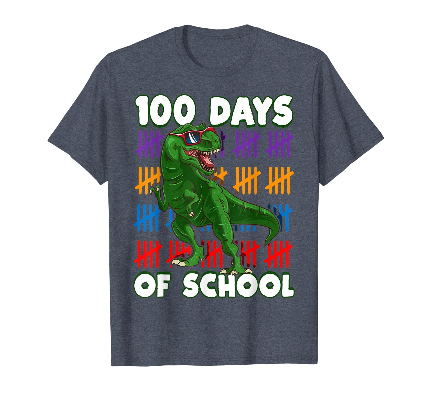 100 Days Of School 100th Day Dino T-Shirt Unisex Tshirt
