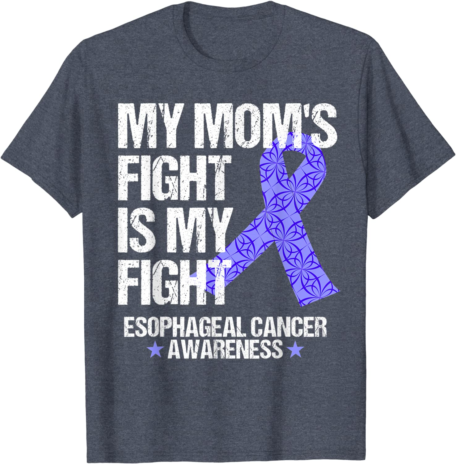 Stomach Cancer Awareness Gift For Stomach Cancer Warrior Fighter Survivor Stomach Cancer Ribbon Tshirt Think Periwinkle Shirt
