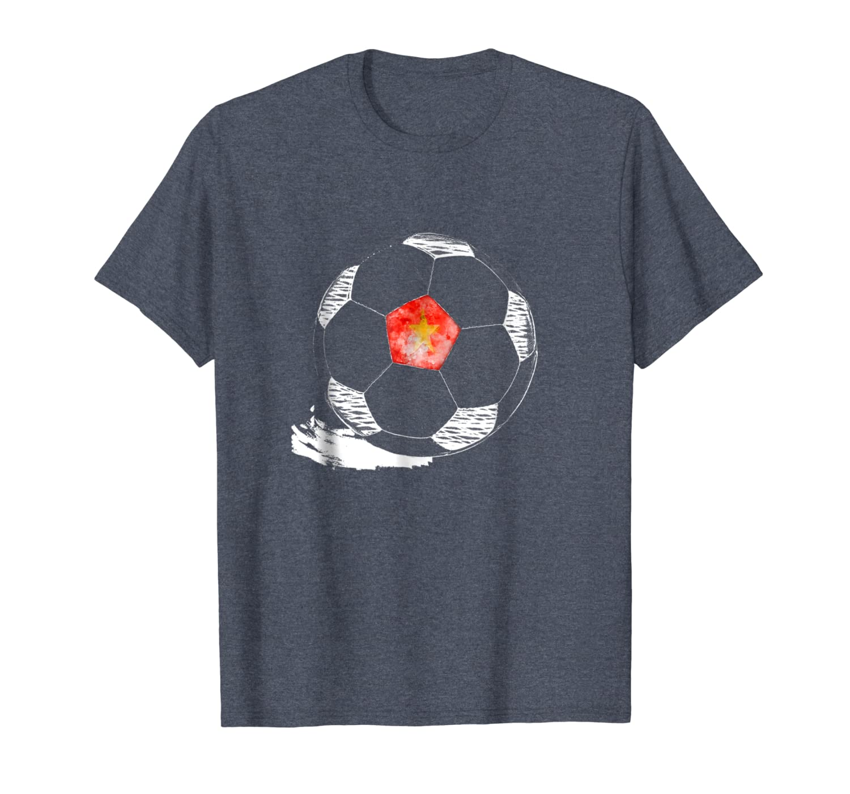 Vintage Soccer Vietnam Flag T-shirt Vietnamese Pride-TH