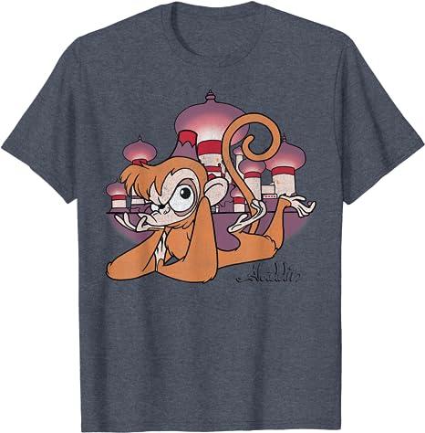Moon Mouse Apparel Aladdin/'s Lamp Unisex Adult Printed Cotton Crew T Shirt