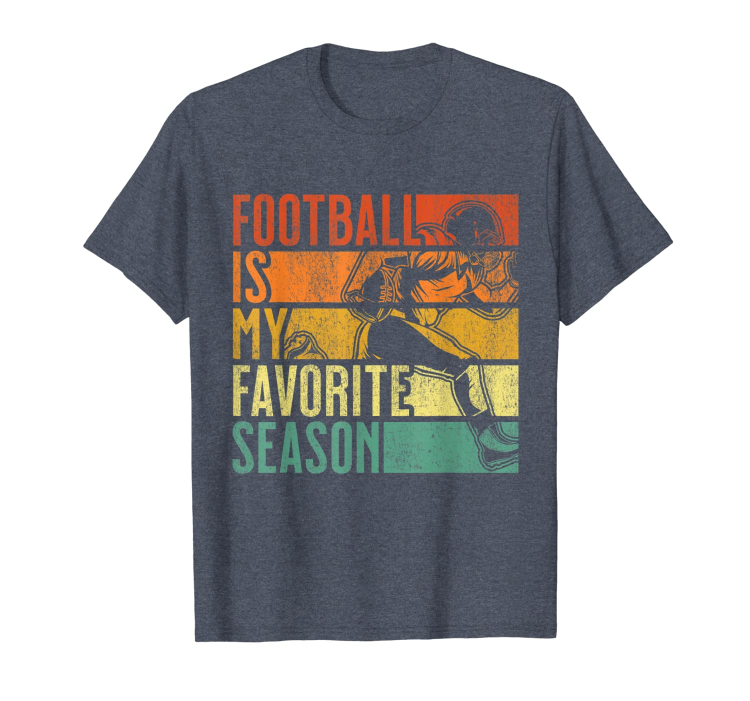 Distressed Vintage Football Is My Favorite Season T-Shirt-TH