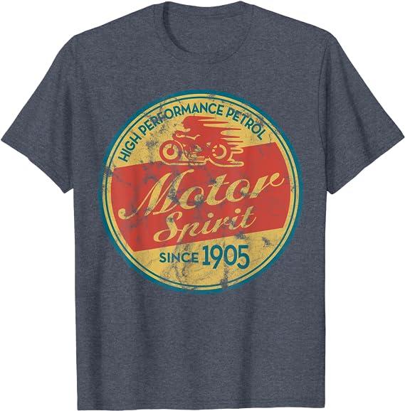 Moto d/'Atelier Biker Garage Show Vintage Oldtimer Classic T-Shirt 4042 BL