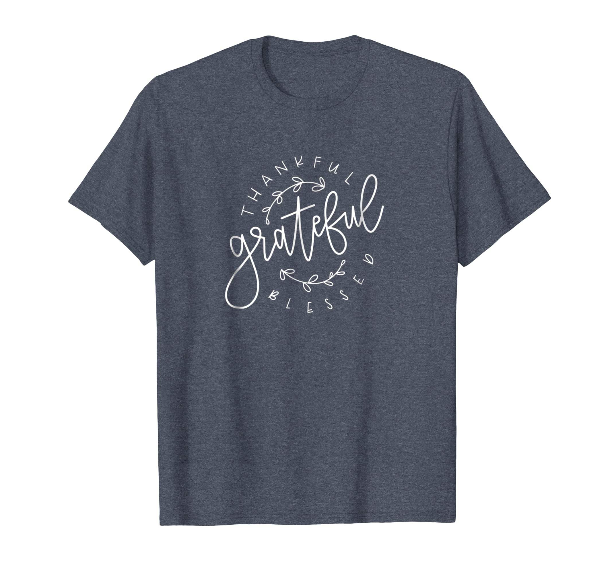 Amazon Thankful Grateful Blessed Custom Hand Lettered T