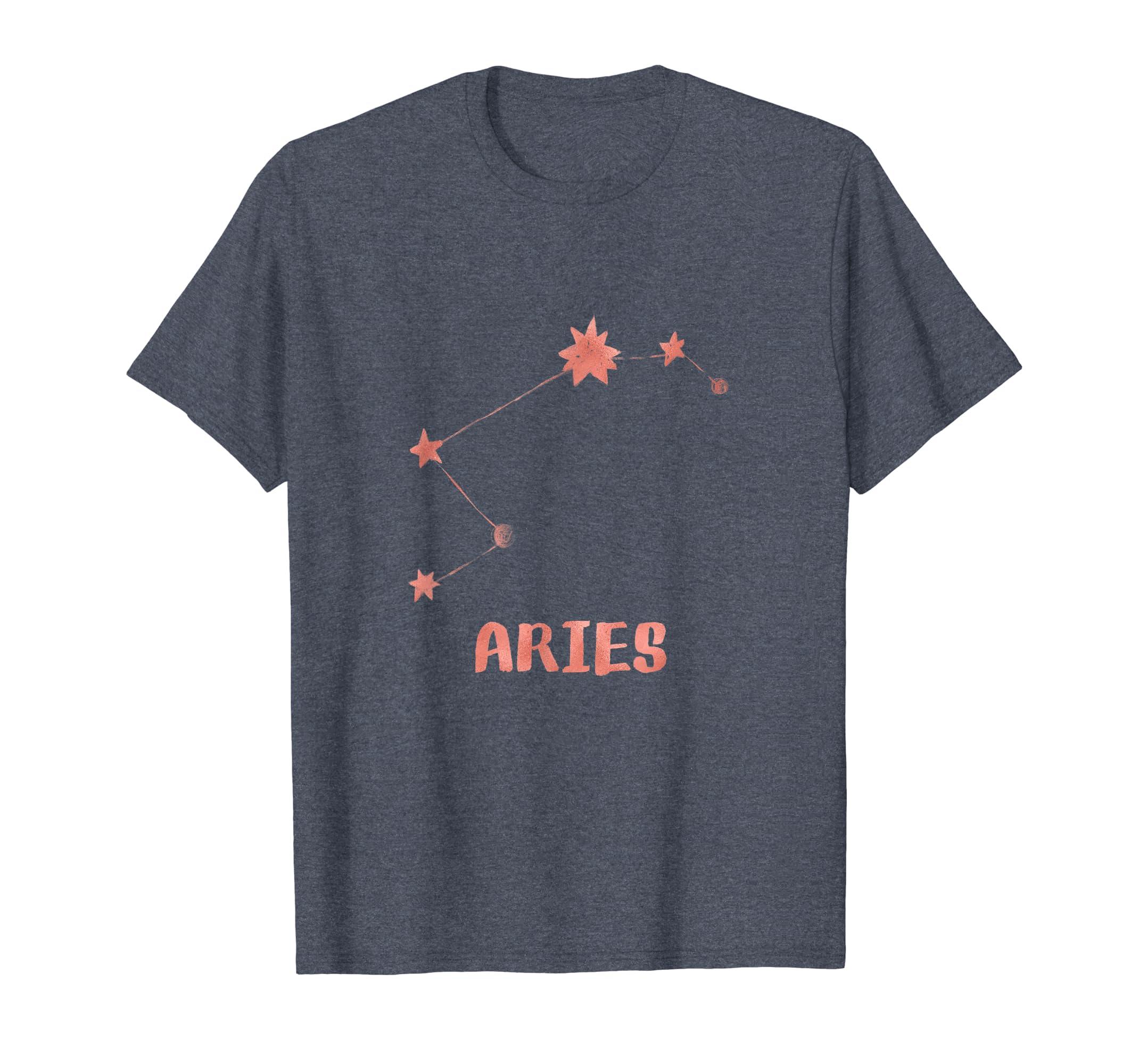 Aries Astrology Shirt Stars March Birthday Gift Girls