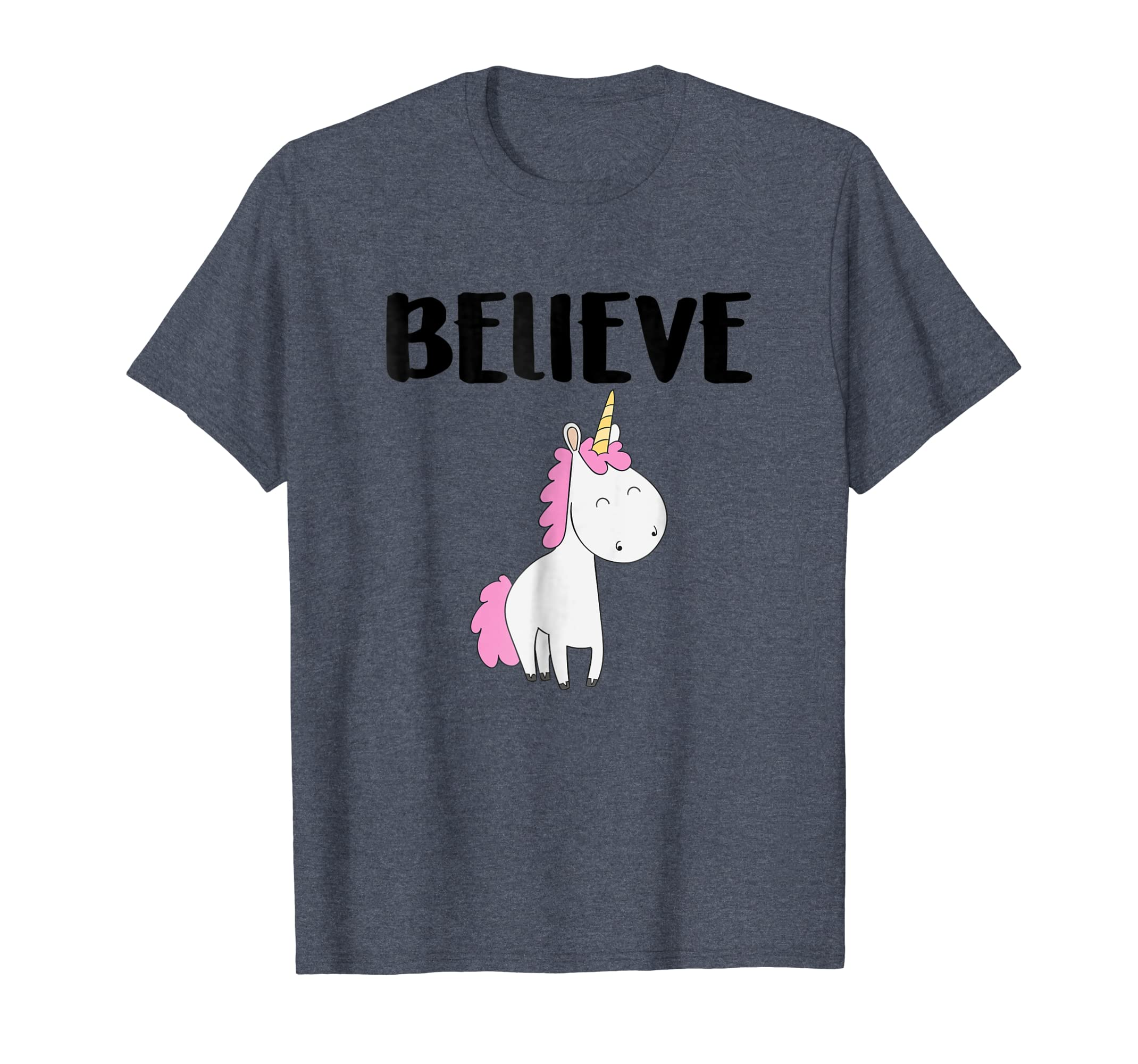 2d4e6828 Amazon.com: Unicorn Shirt Believe Tees Magical Fantasy Cute Holiday Gift:  Clothing