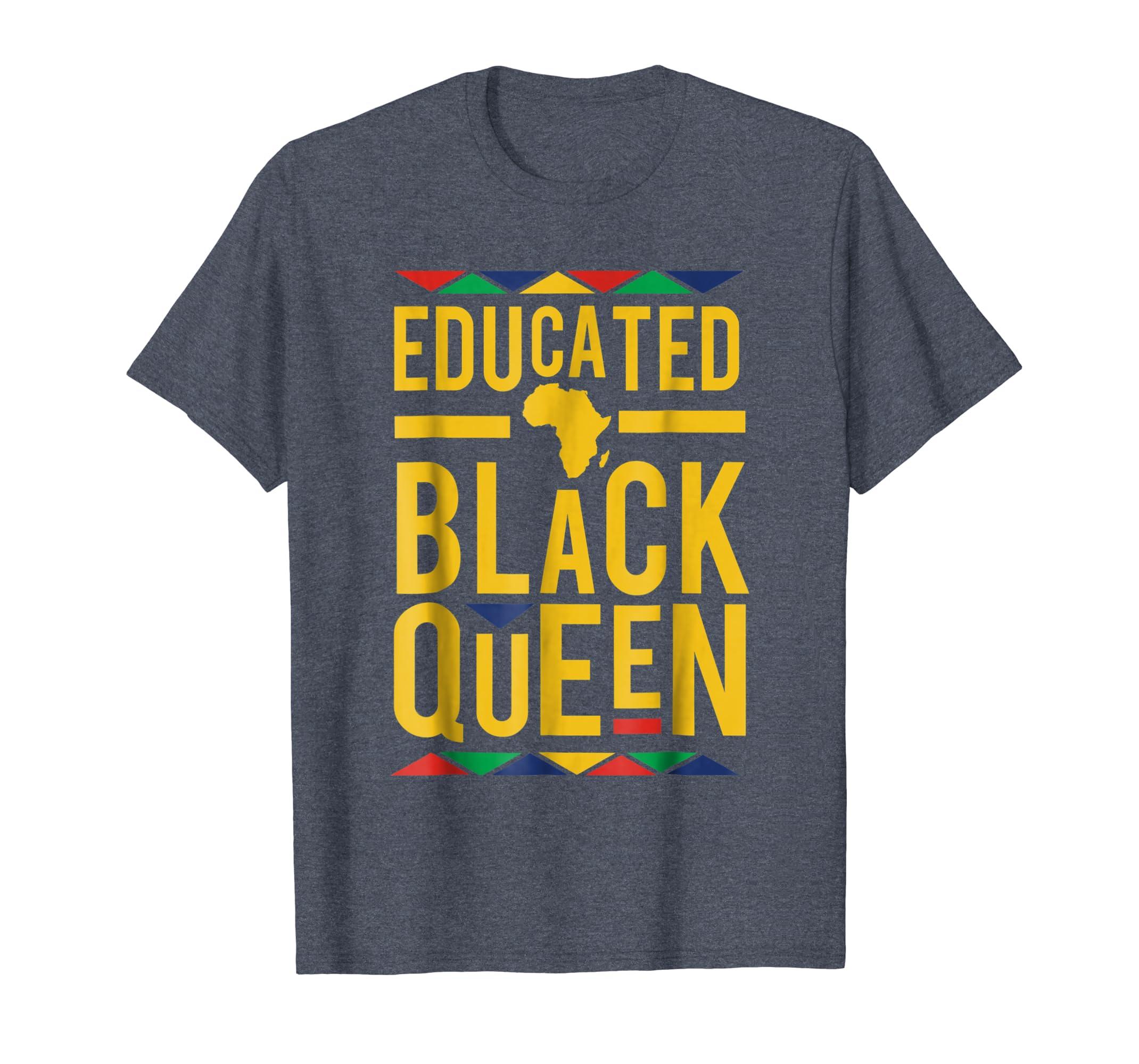 Dashiki Educated Black Queen Shirt - African DNA Pride Shirt-SFL