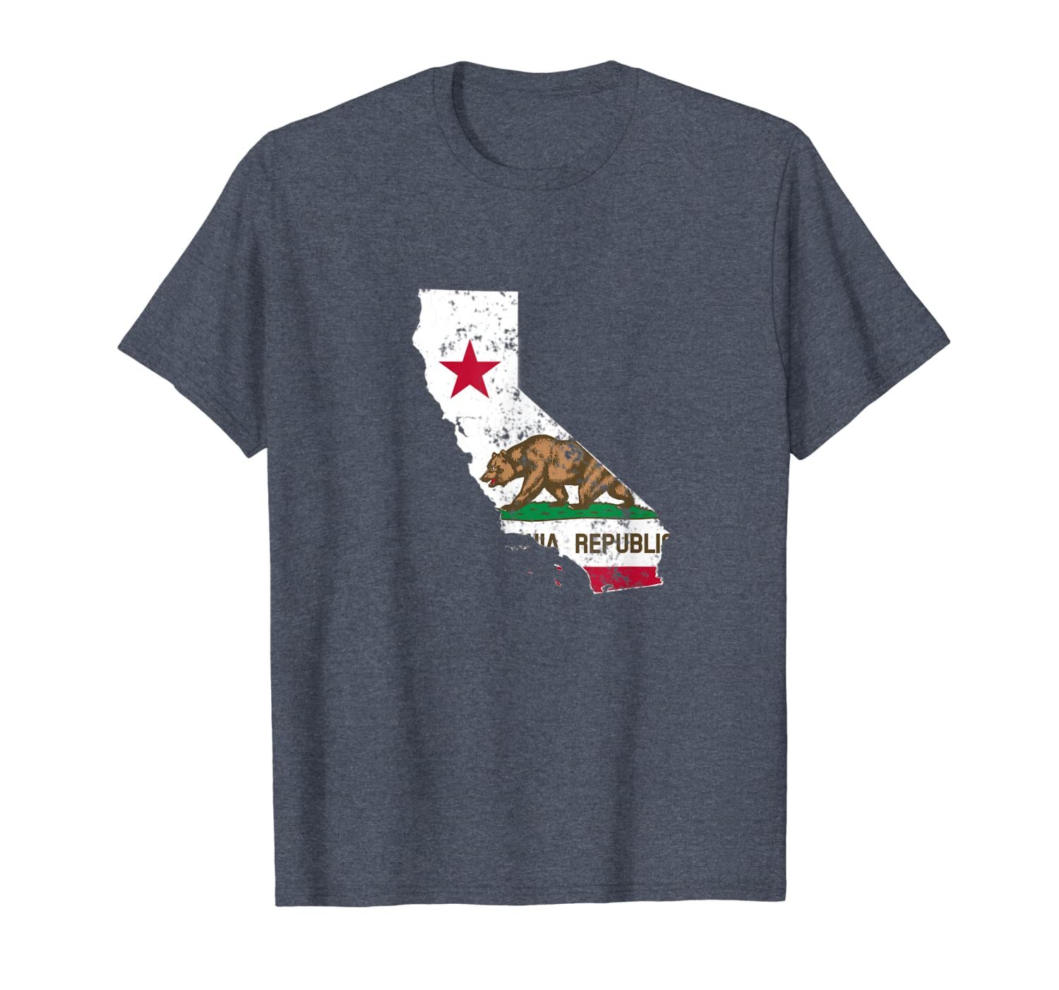 California State Flag TShirt Vintage Distressed CA Flags T-Shirt-ANZ
