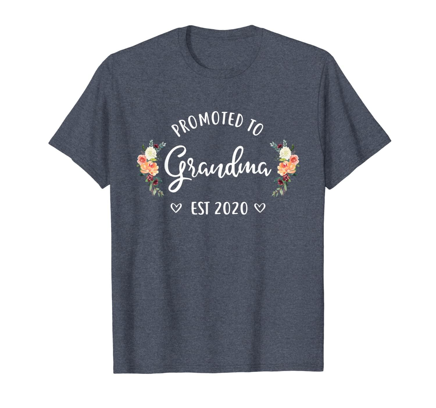 Promoted to Grandma Est 2020 New Grandma T-Shirt-ANZ