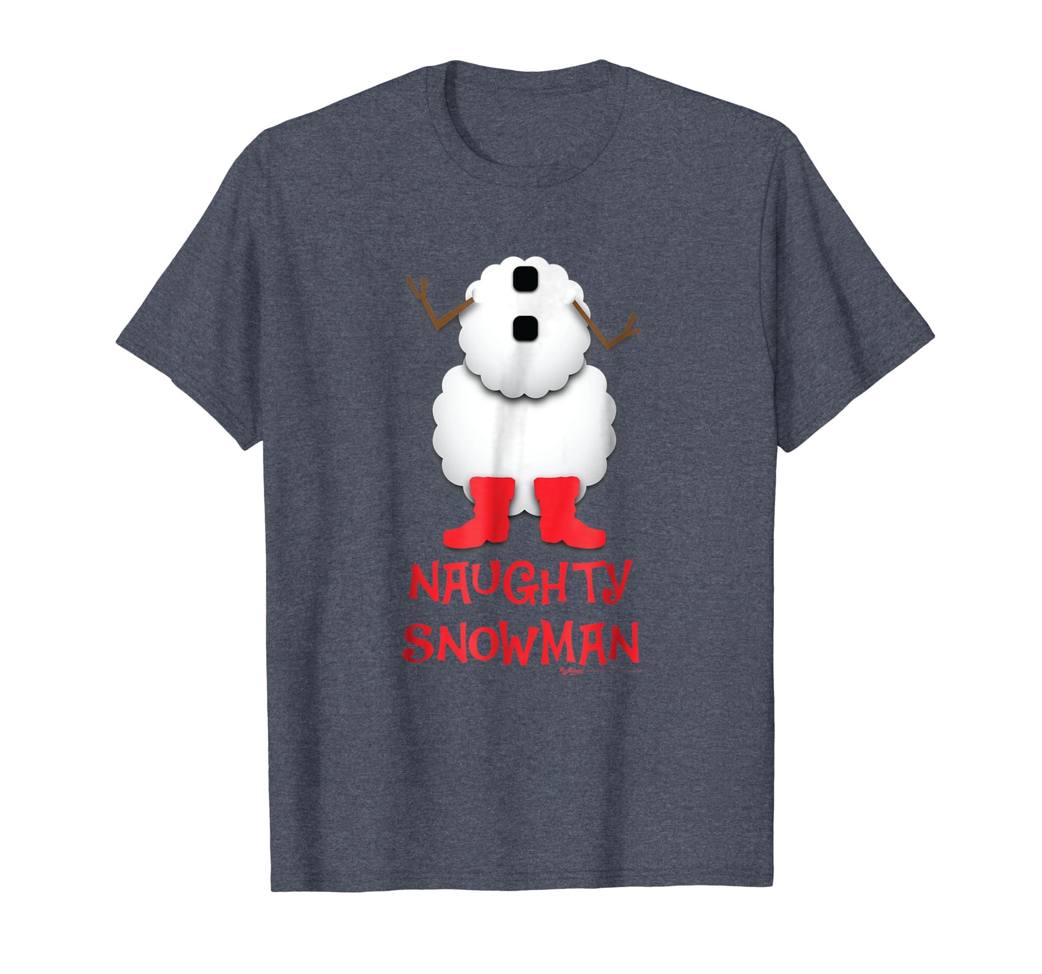Naughty Snowman Costume Funny Christmas T Shirt-SFL