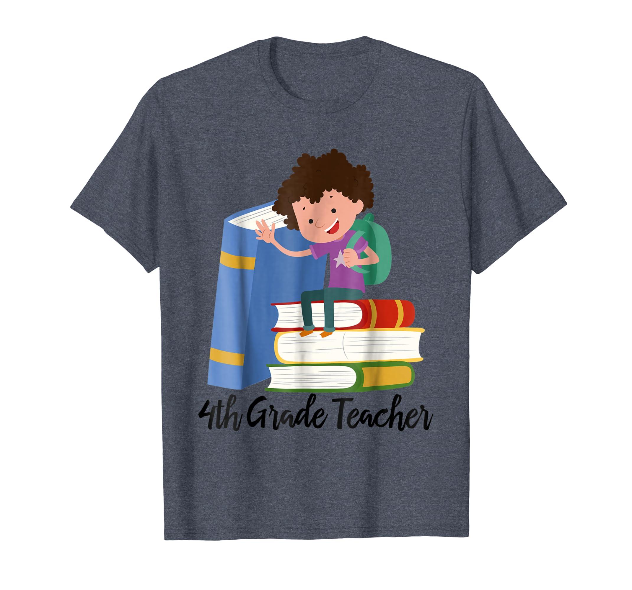 4th Grade Teacher, Teach Gifts Ideas, Teacher T-Shirts-SFL