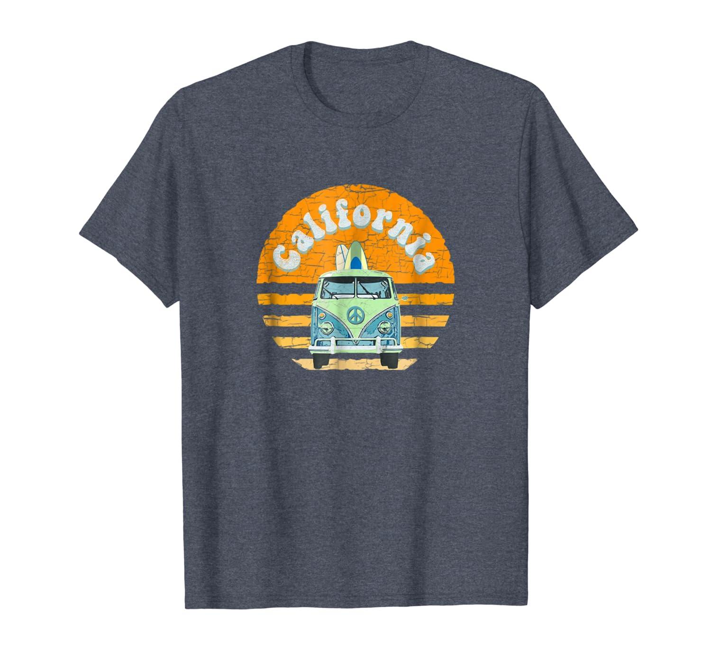 Vintage California Hippie Van Beach Surfer T-Shirt-ANZ