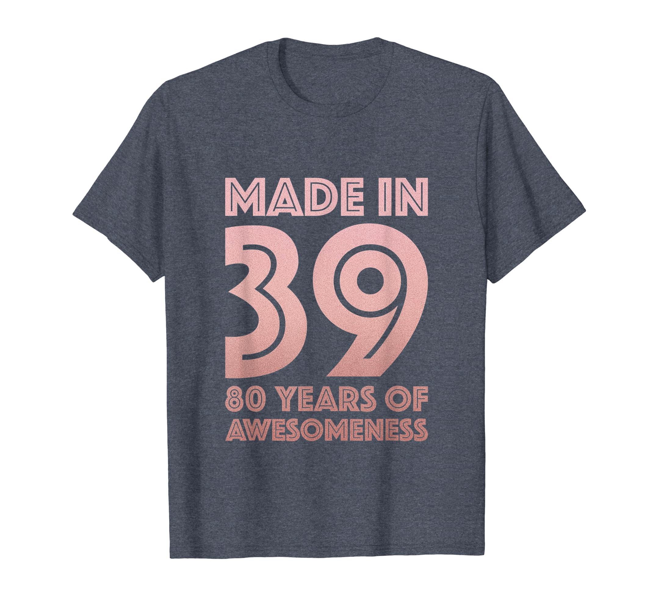 Amazon 80th Birthday Shirt For Grandma Mom 80 Year Old Women Gifts Clothing