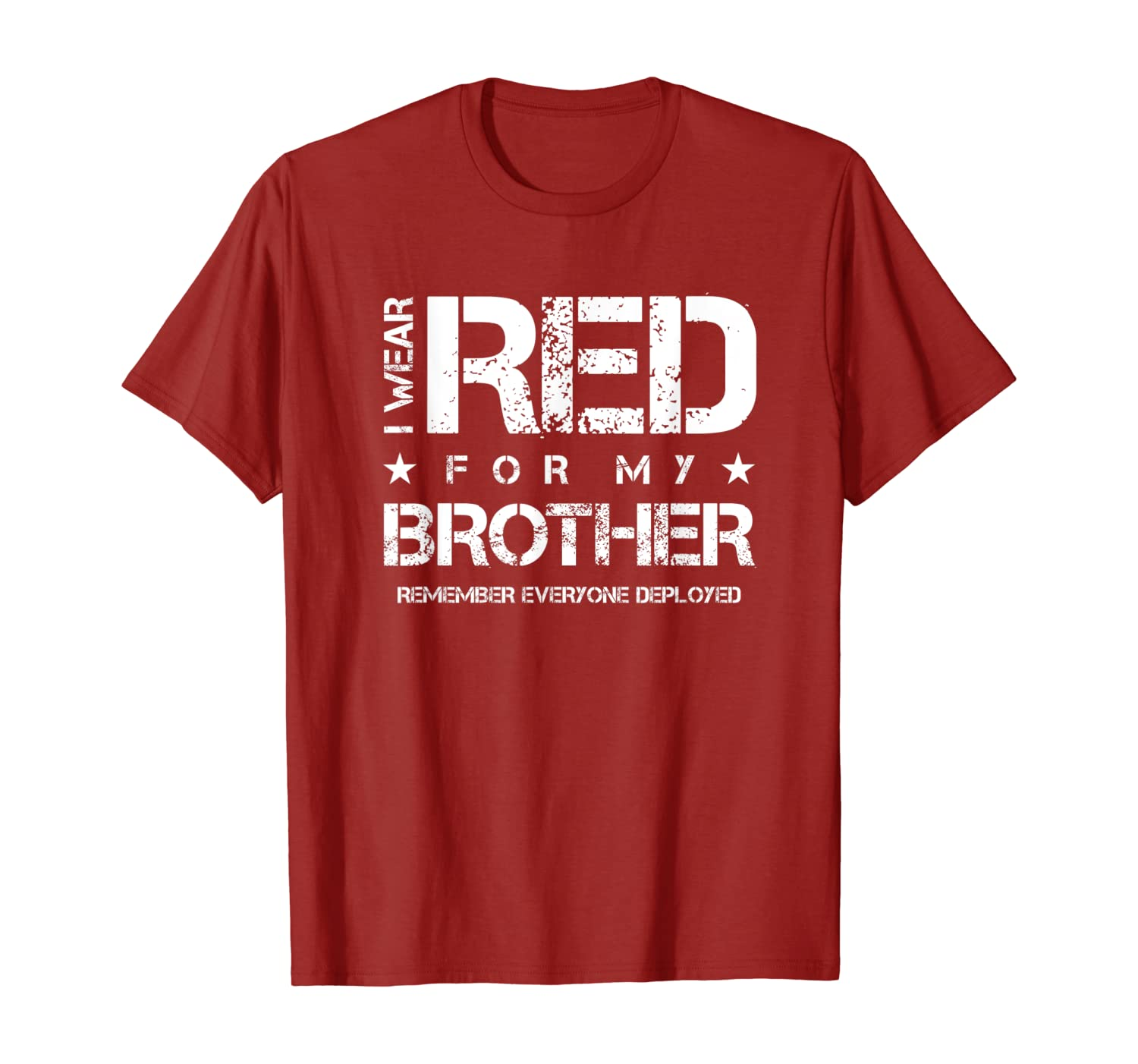 I Wear Red for my Brother Red Friday T-Shirt