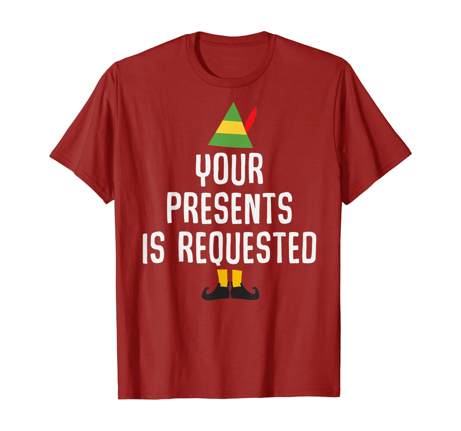 Your Presents is Requested Funny Christmas Pun Gift T-Shirt