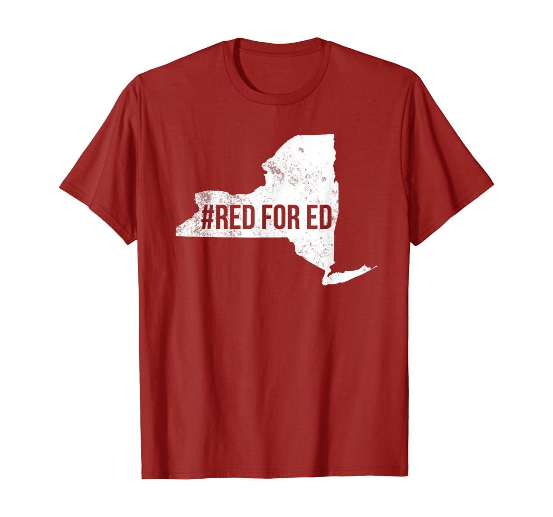 Red For Ed T-Shirt New York Teacher Public Education T-Shirt