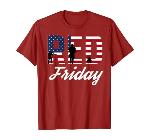 amazon com red friday shirt on fridays we wear red clothing red friday shirt on fridays we wear red