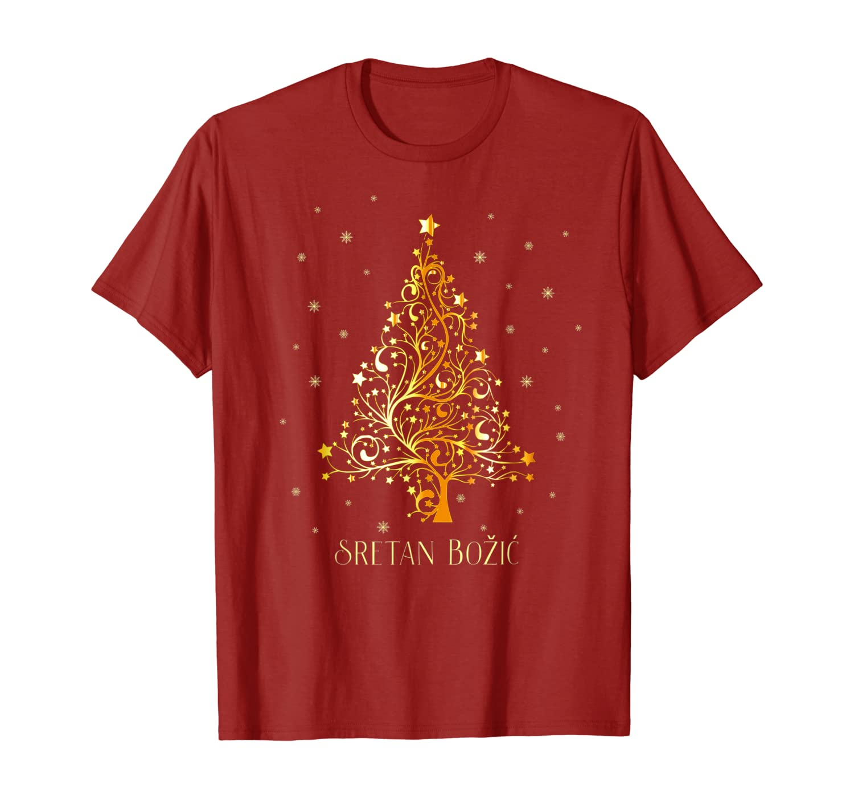Croatian Christmas Tree Croatia Ornament Decoration Star T-Shirt