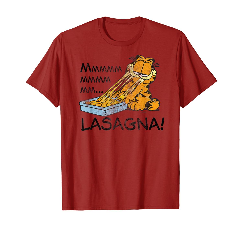 Amazon Com Garfield Mmm Lasagna T Shirt Clothing