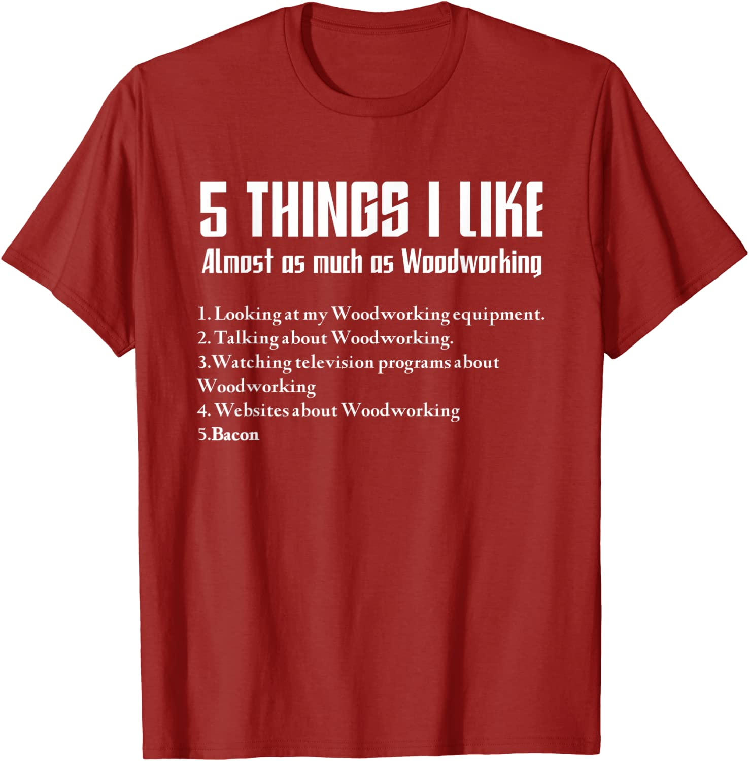 Woodworking T-Shirt Vintage Men Gift Tee When I/'m Crazy I/'ll Only Measure Once