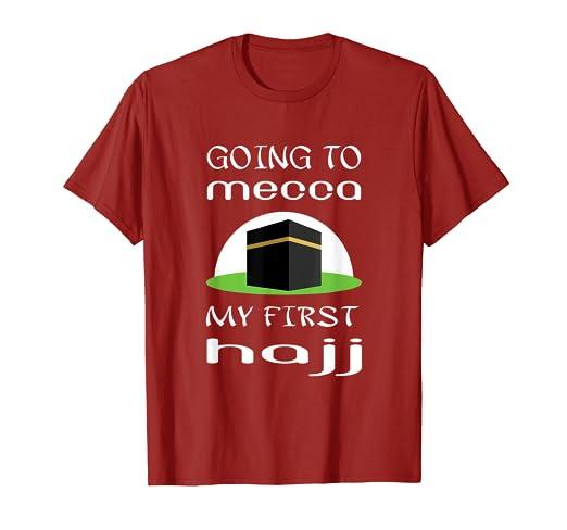 Amazon com: My first hajj to Mecca tshirt gift-Mecca Kaaba