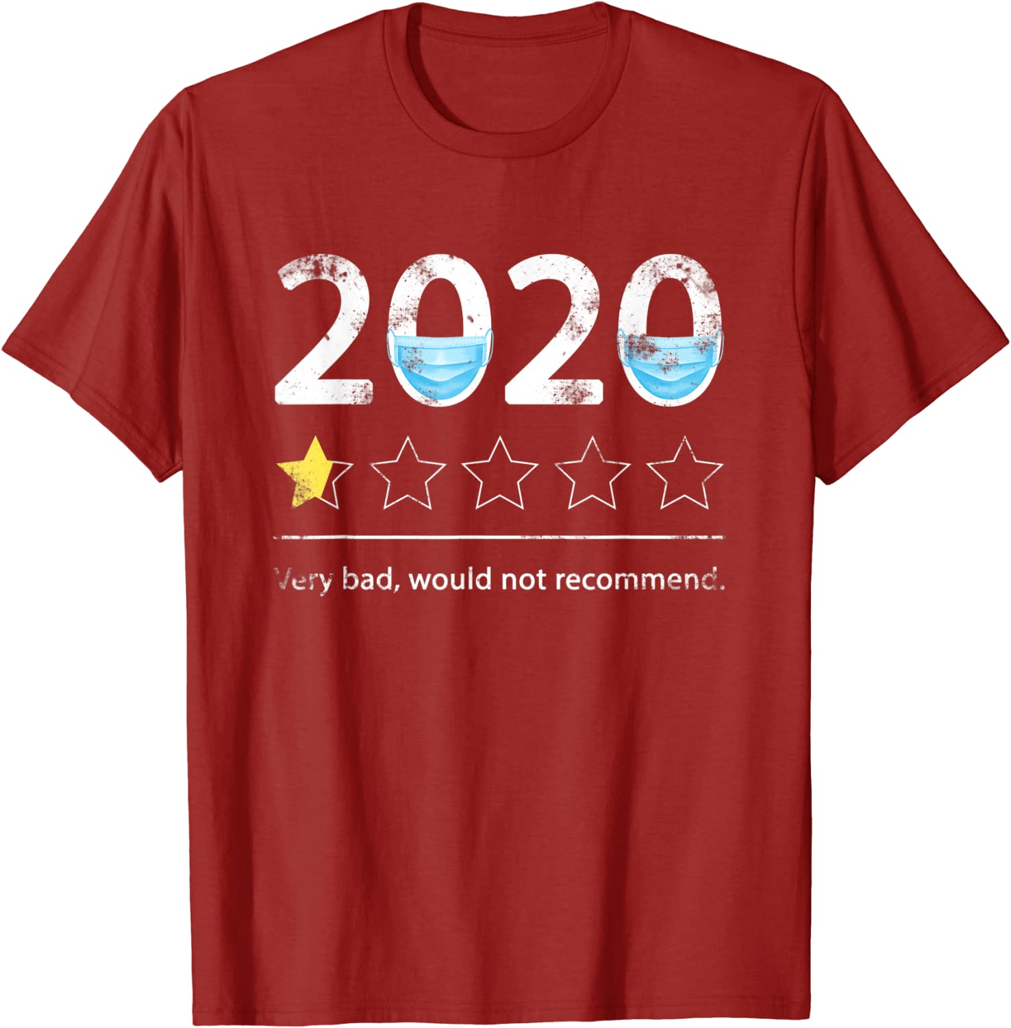 2020 Very Bad Would Not Recommend Funny New Outlet SALE item T-Sh Kids Men Women Mask