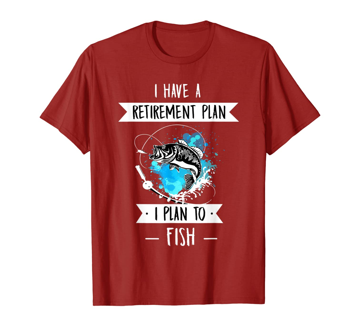 Funny Fishing Gear for Guys Mens Retirement T-Shirt LongSleeve Tee