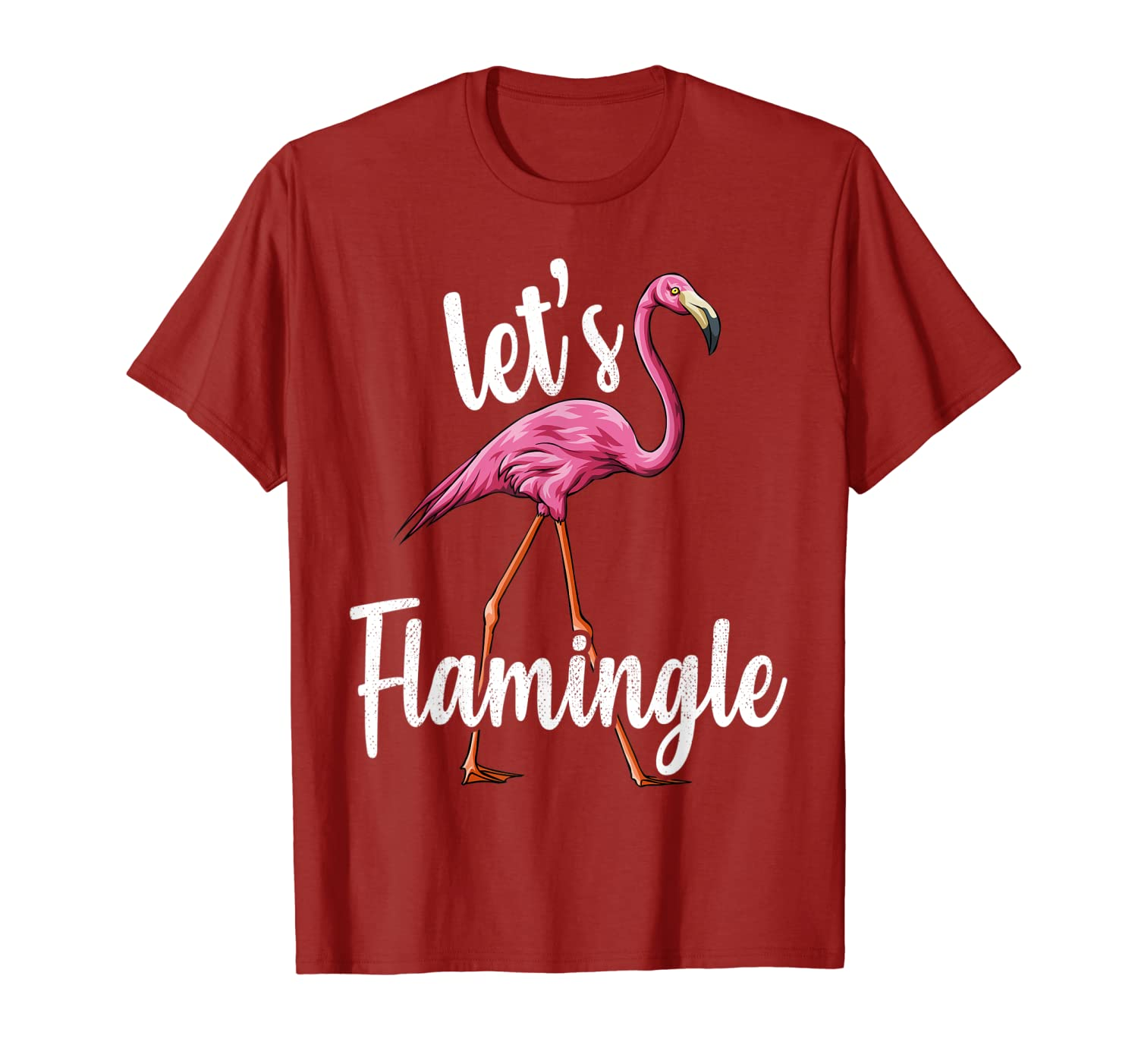 Let's Flamingle Pink Flamingo Bird Animal T-Shirt-ANZ