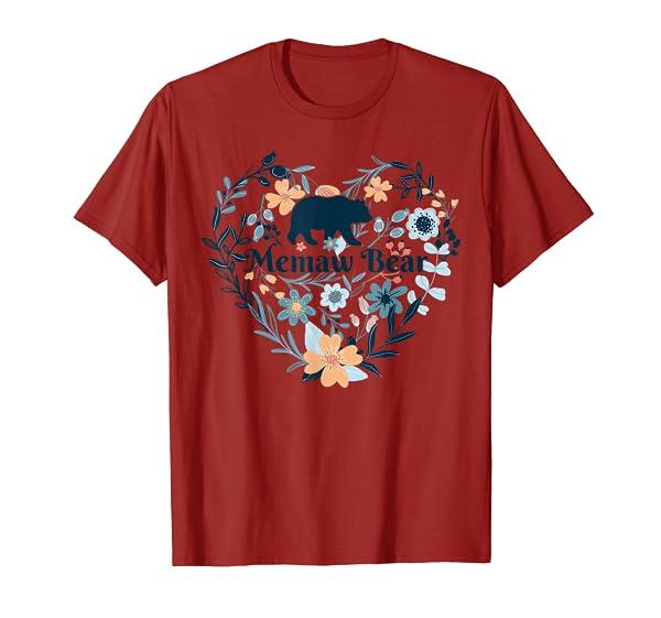 Memaw Bear Floral Mother's Day T-Shirt