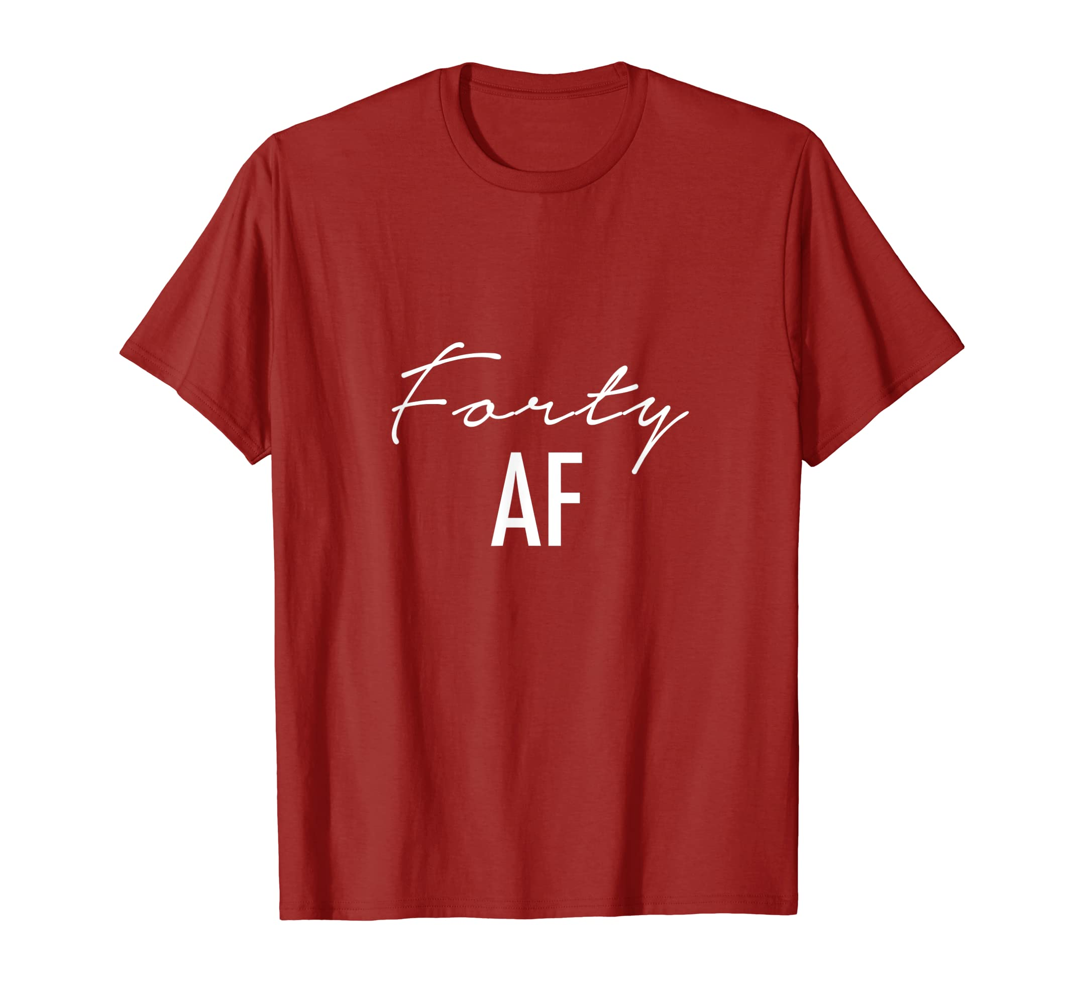 7899293950f Amazon.com  40th Birthday Shirt - Forty AF T-shirt Fabulous Forty Tee   Clothing