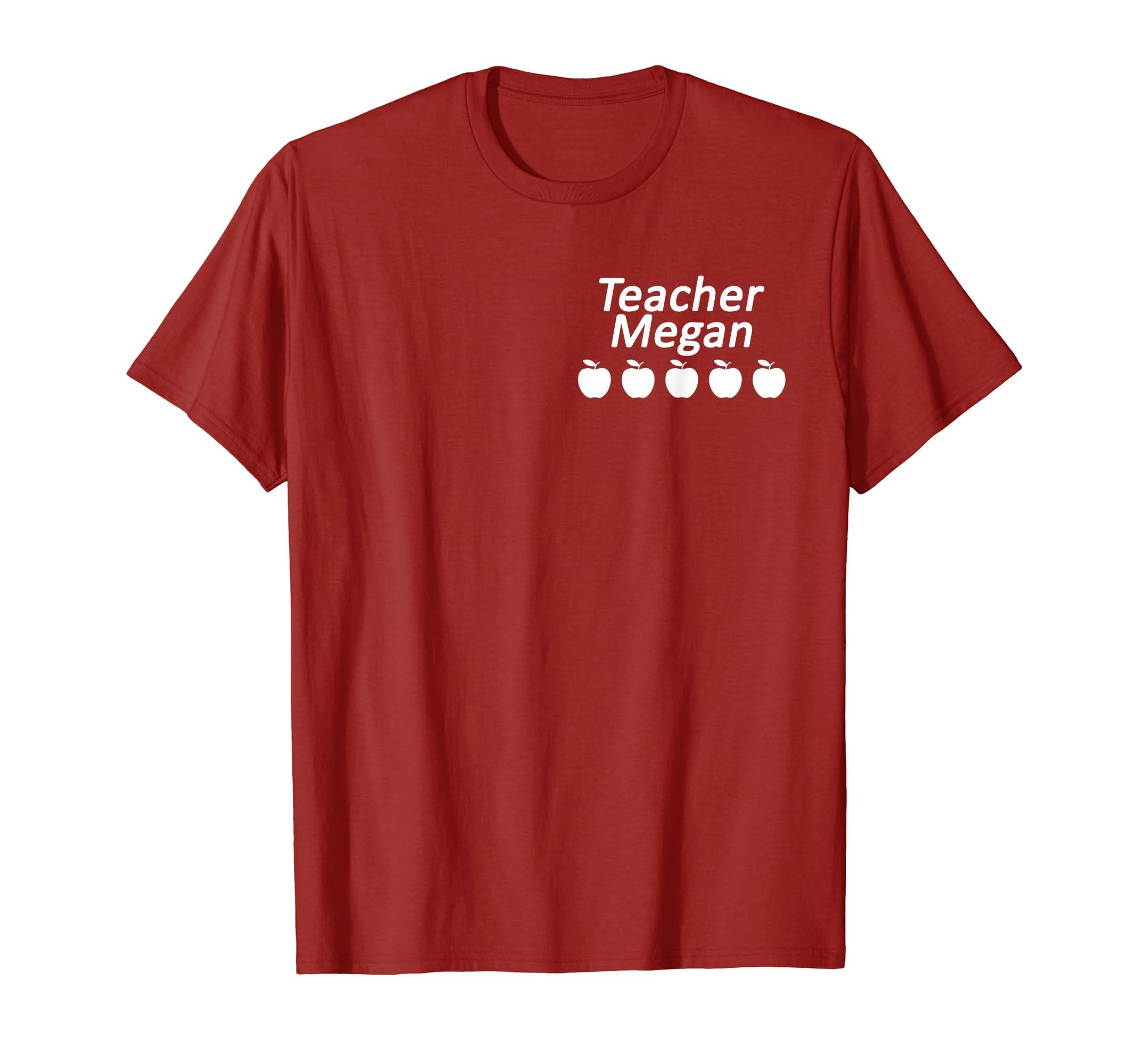 0d1215a3 Amazon.com: VIPKid Teacher Megan Five Apples T-shirt: Clothing