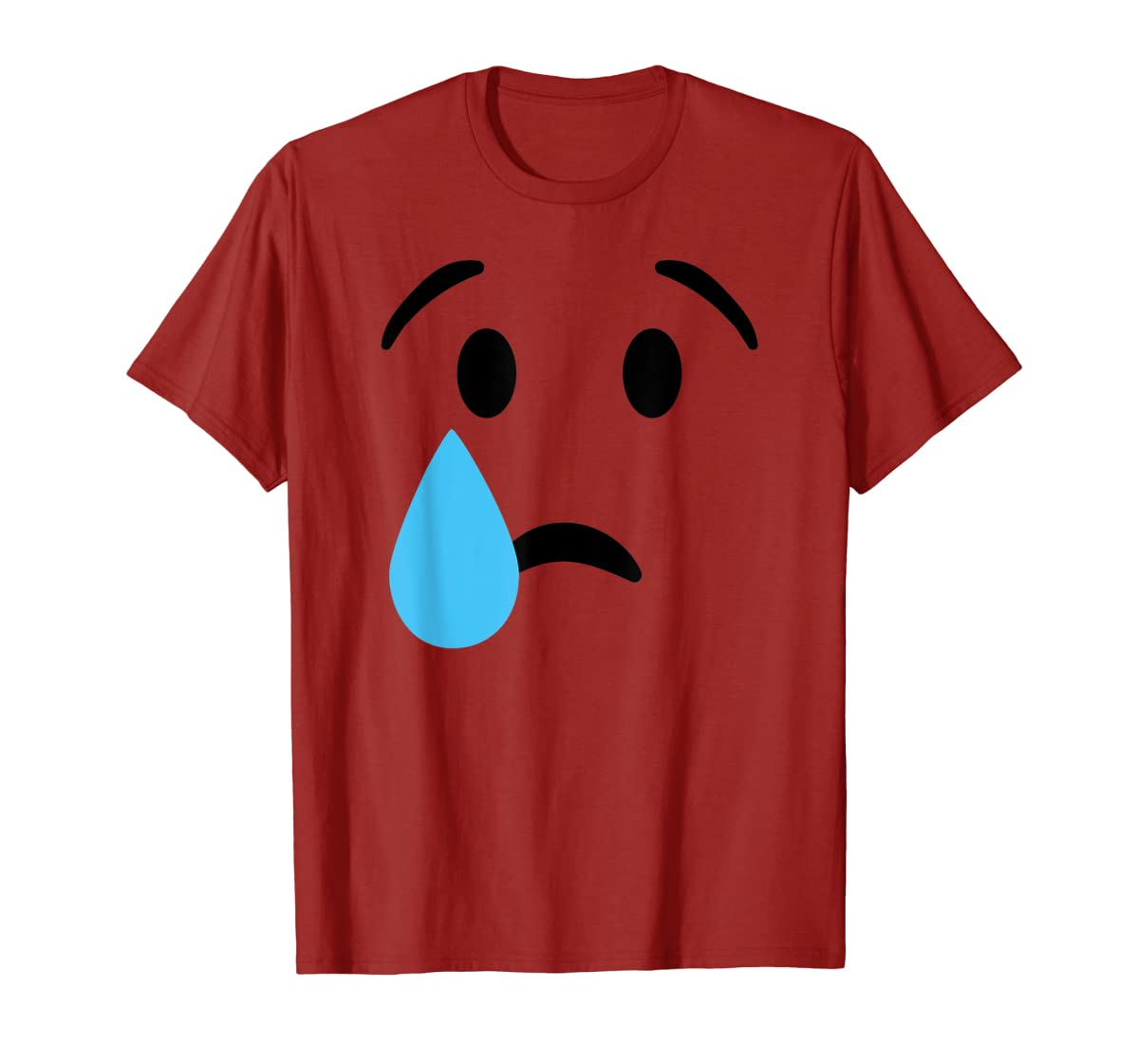 Sad Crying Tear Eyes Face Emojis Emoticon Halloween Costume T-Shirt-Men's T-Shirt-Red