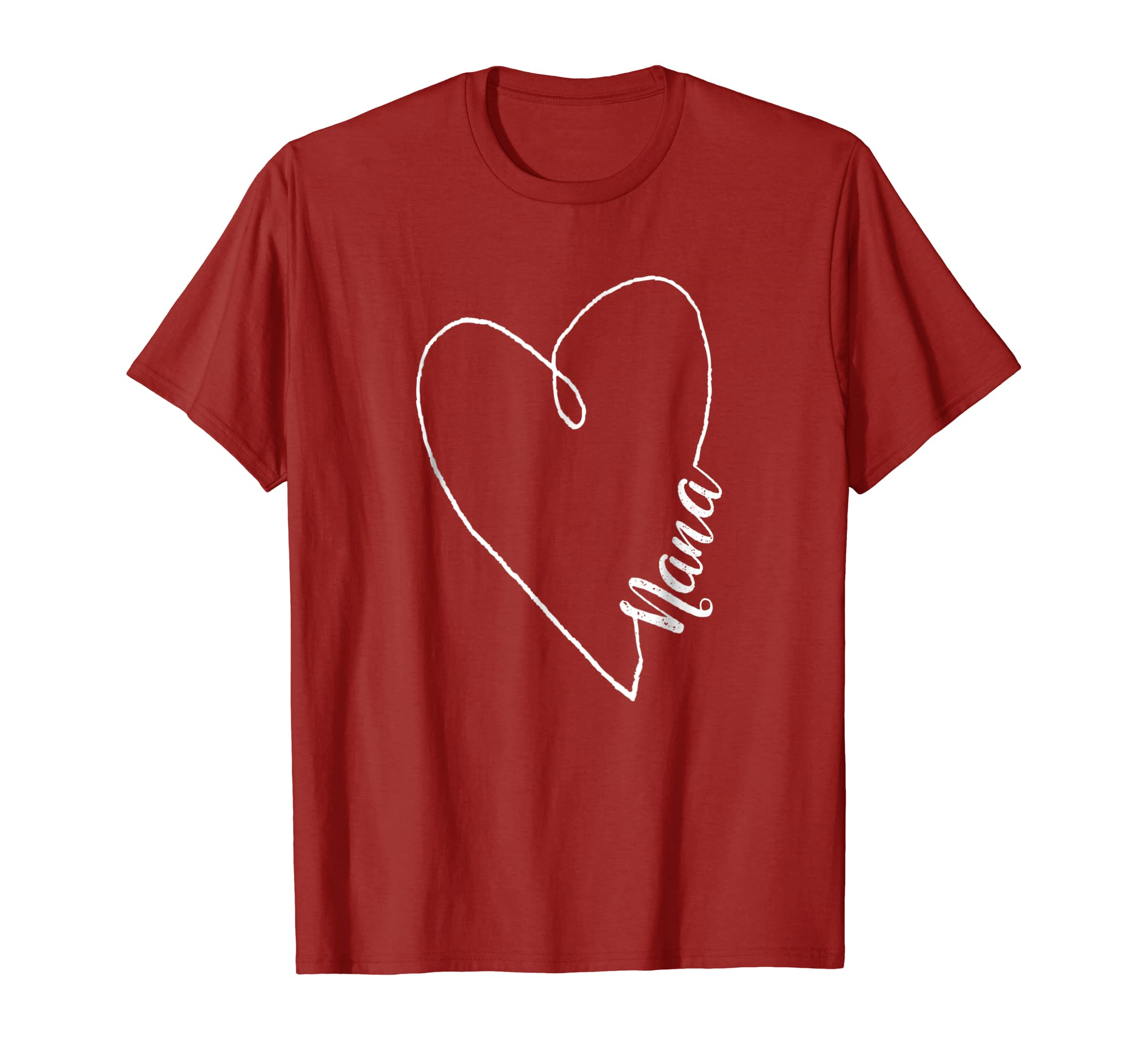 Nana Heart Shirt Light Mother Day Gift-Yolotee