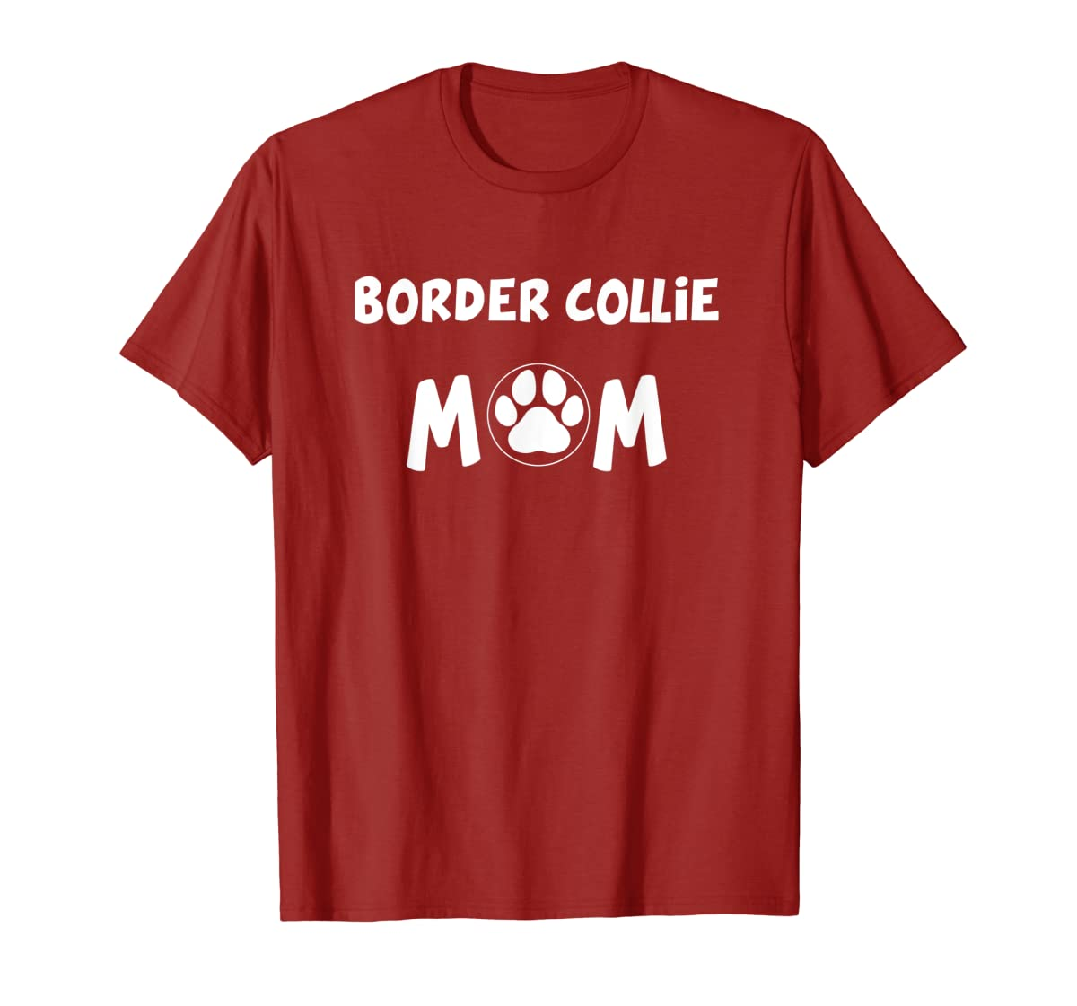 Perfect Dog Mother Gift | Border Collie Mom T-Shirt-Men's T-Shirt-Red