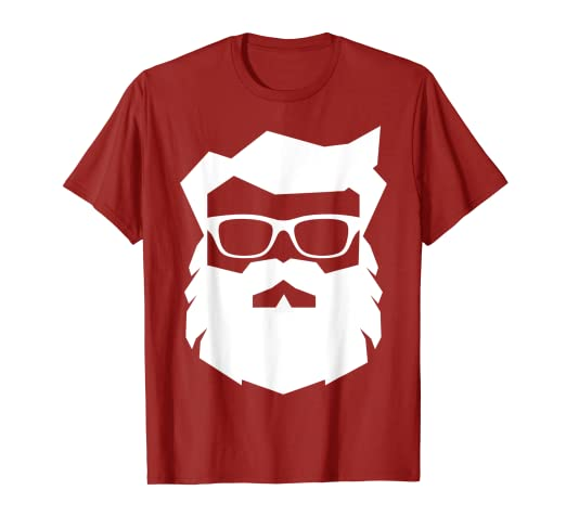 2d5195772dc Image Unavailable. Image not available for. Color  Cool   Hip SANTA CLAUS  T-Shirt Hipster Coolest Sunglasses