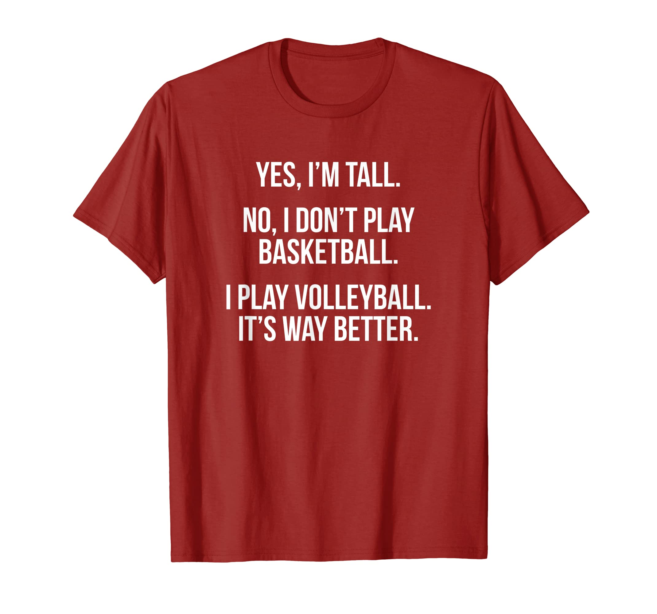249afd0c0 Amazon.com: Tall people play volleyball funny graphic tee shirt gift:  Clothing