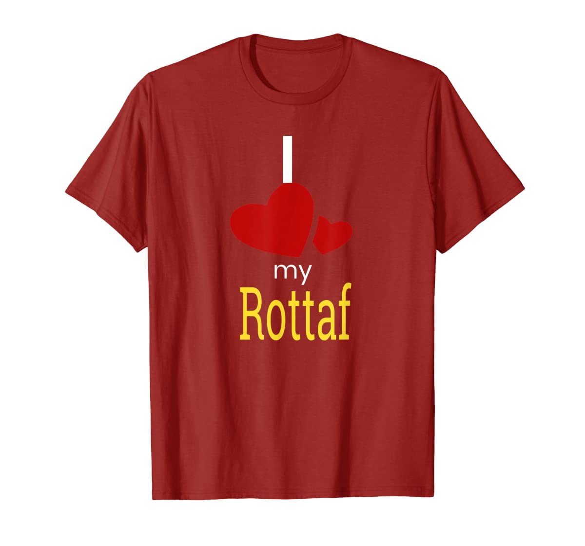 Rottaf Dog Shirt Love Rottweiler + Afghan Hound =  T-Shirt-Men's T-Shirt-Red