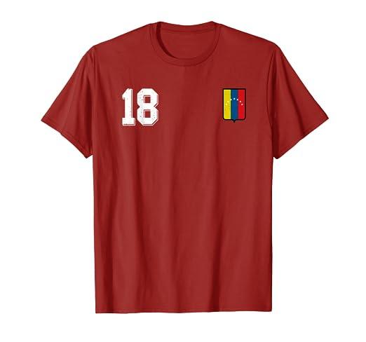 Venezuela Soccer T-Shirt Retro Camiseta Vinotinto Futbol 18