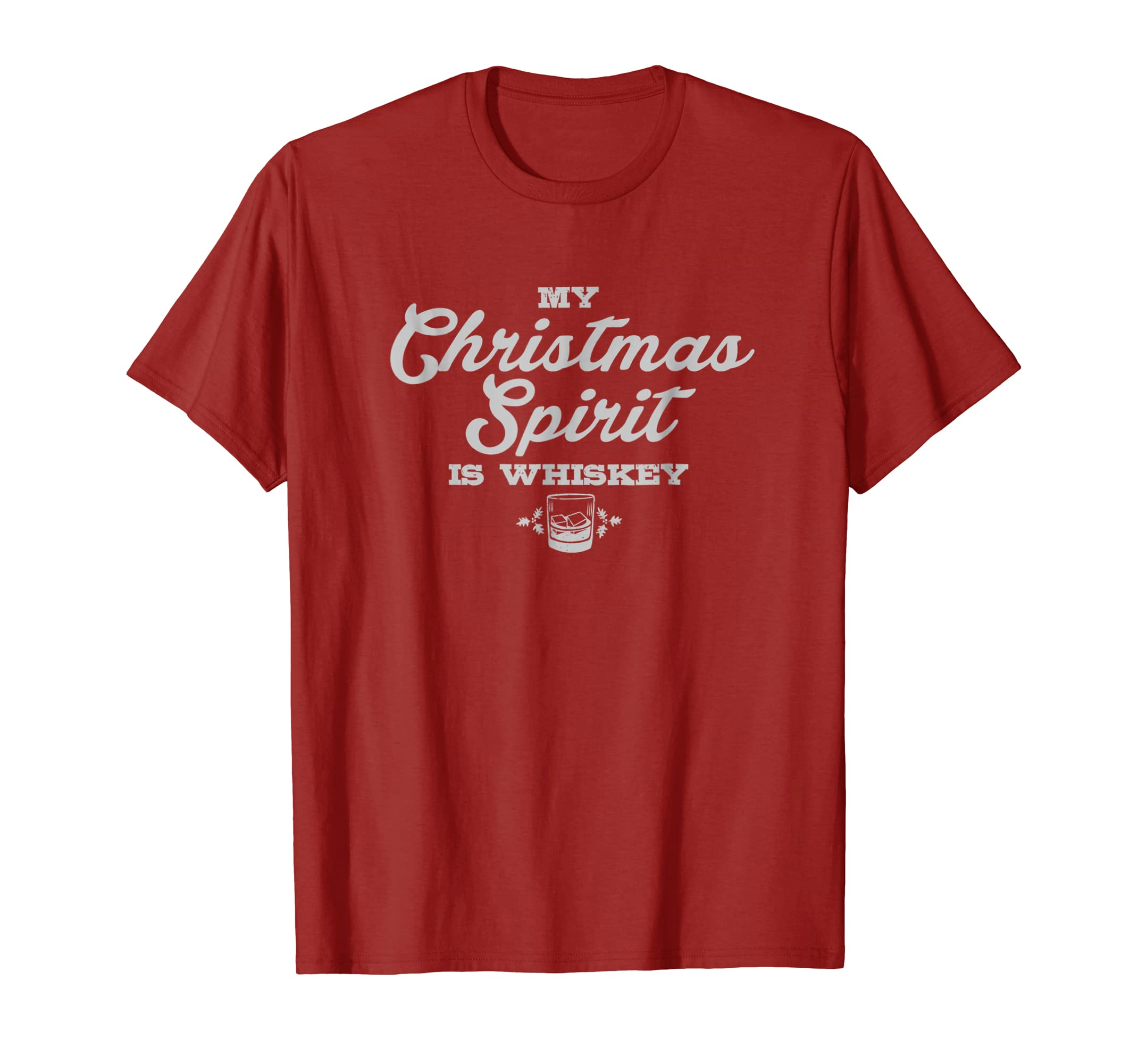 60a2f96ac Amazon.com: Funny Christmas Alcohol Drinking Whiskey Saying Gift Tshirt:  Clothing