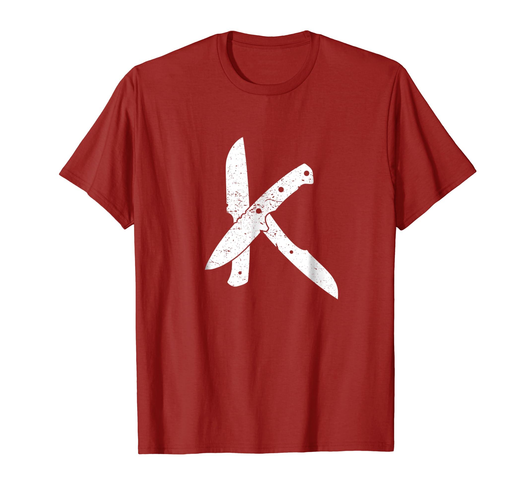 Custom Fixed Blade Knife Tee Shirt-ln