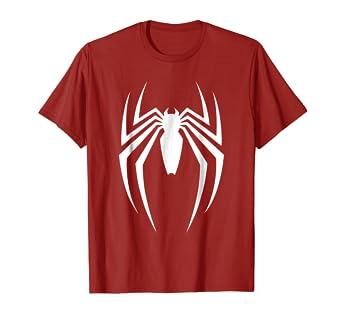 Amazon Com Marvel Spider Man Game Logo Graphic T Shirt Clothing