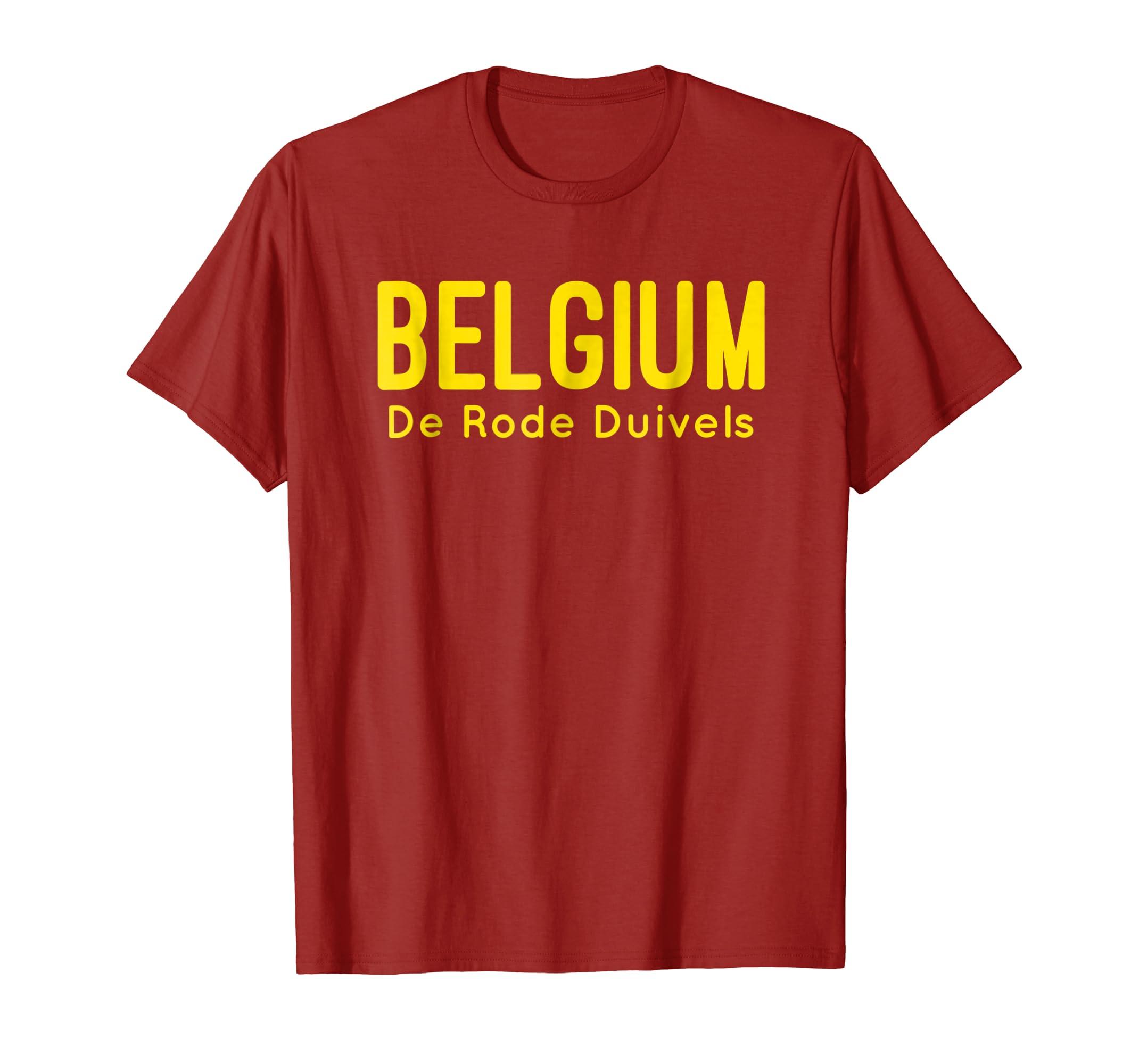 Amazon.com  Belgium T-Shirt Belgian Soccer Football Fan Jersey 2018   Clothing 14c63fd77