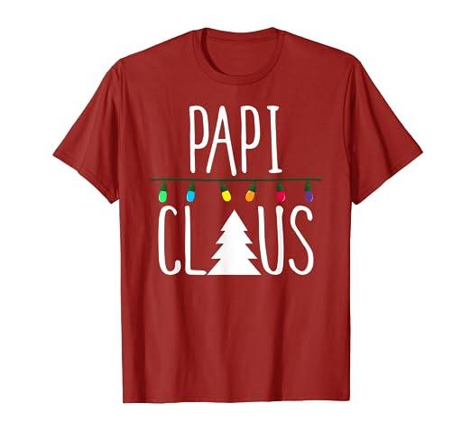 Amazon com: Papi Claus Shirt Christmas Lights Shirt: Clothing