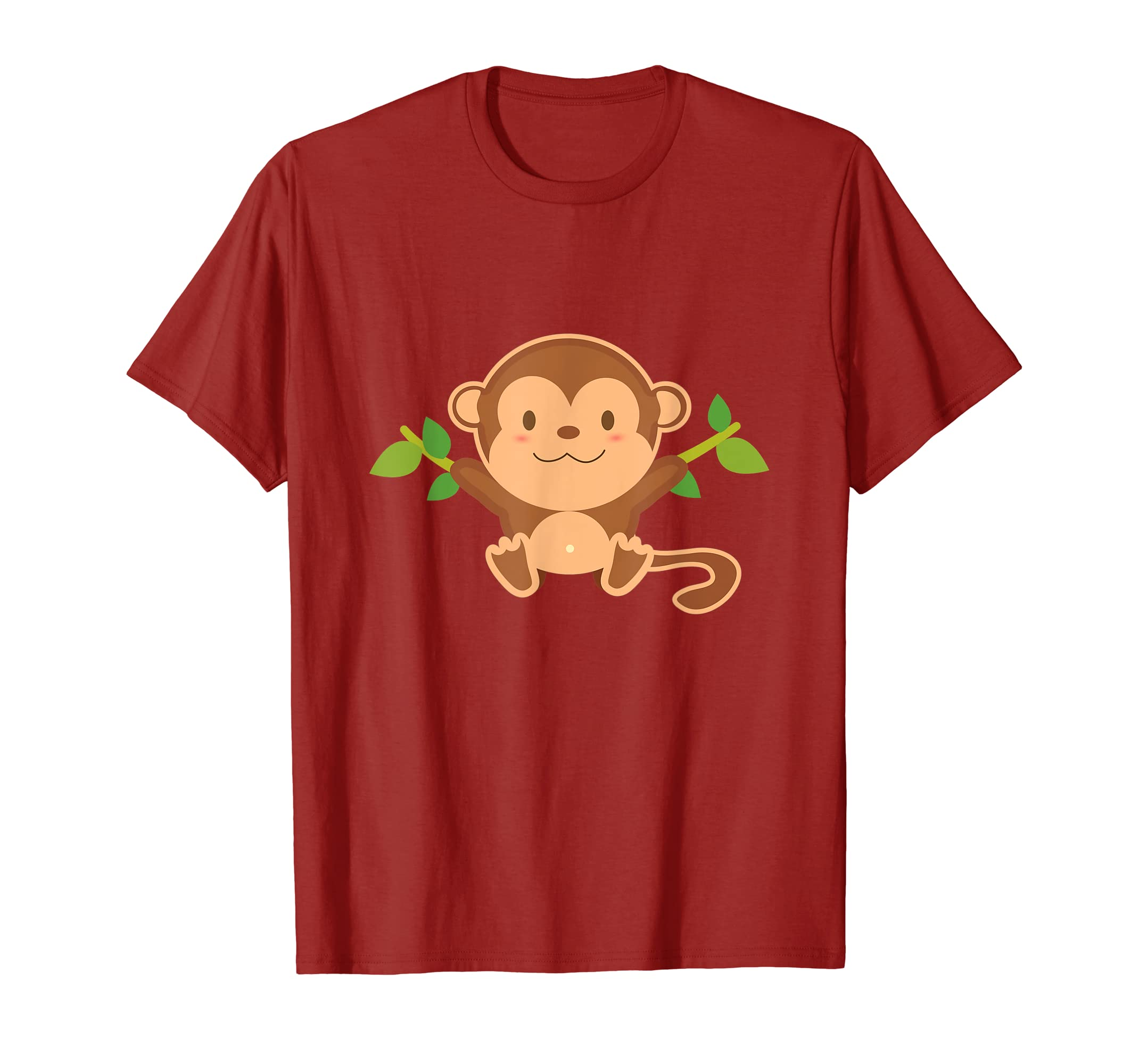 edda4c22 Amazon.com: Cute Funny Monkey T-Shirt: Clothing