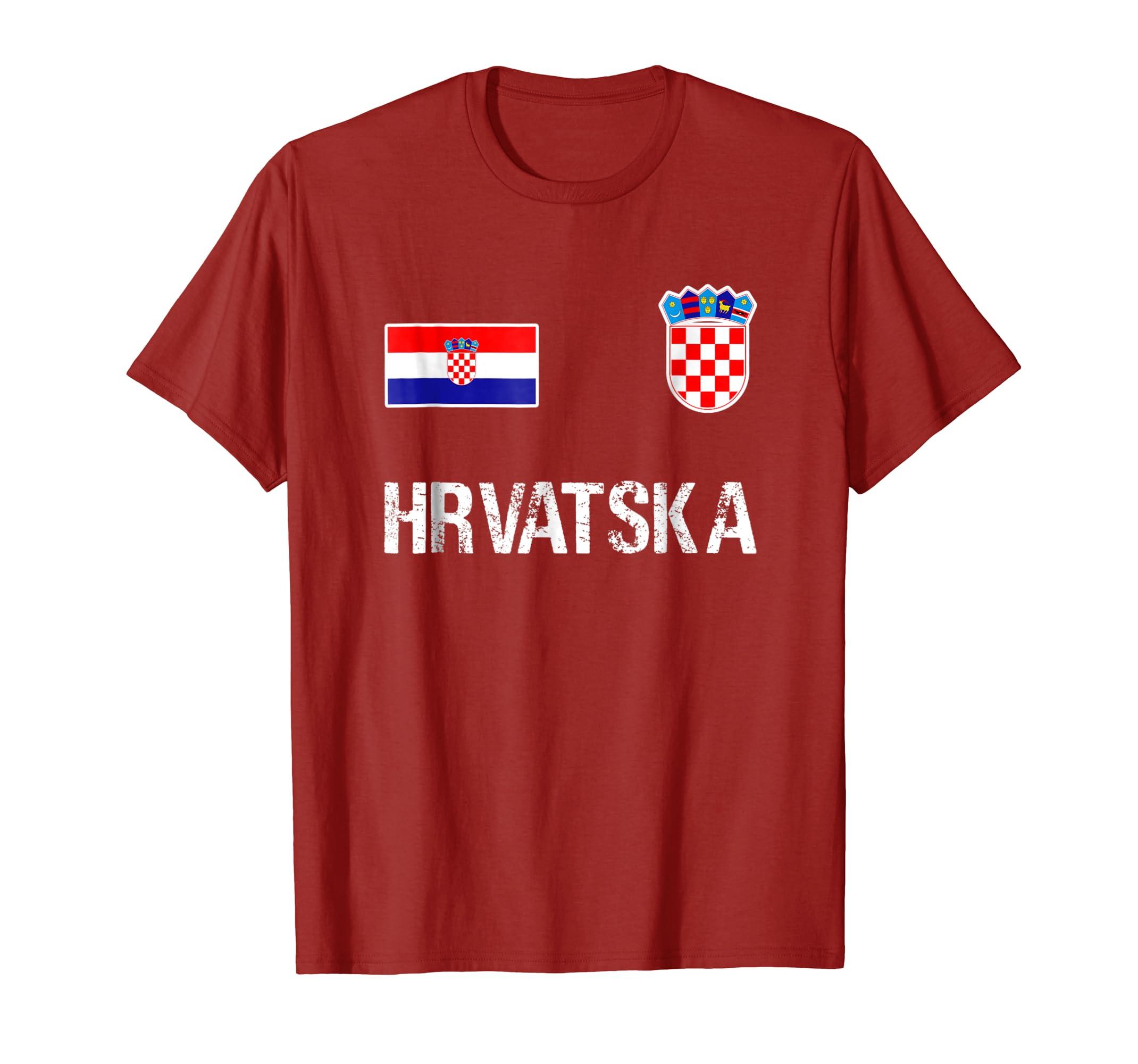 12265af3f Hrvatska T-shirt Croatian Flag Hrvatska Soccer Jersey Style-ln – Lntee