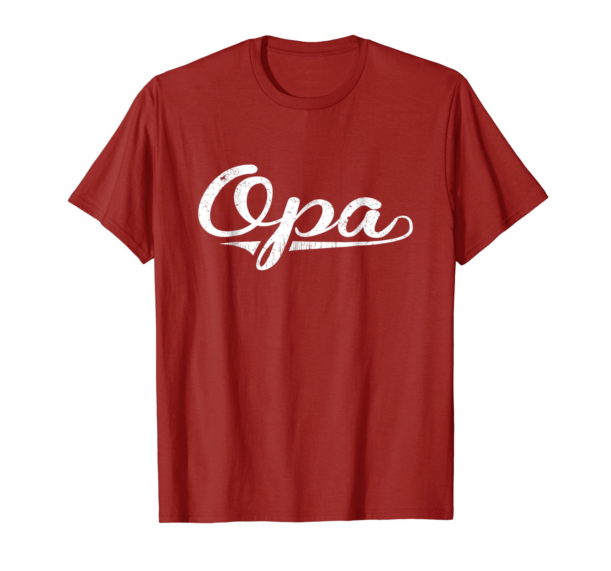 Amazon Birthday Gifts Grandpa Happy Opa Shirt Clothing