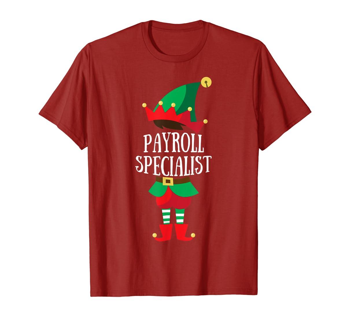 Elf Payroll Specialist Christmas Group Matching T-Shirt-Men's T-Shirt-Red