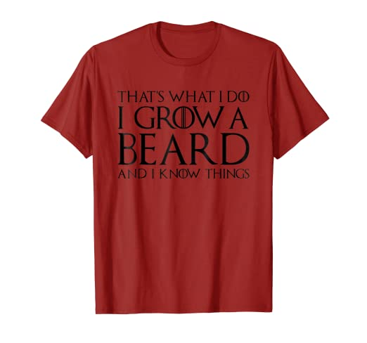 88e2df94b1f35f Image Unavailable. Image not available for. Color  Hippie Shirt Grow Beard  Know Things Tee Men ...