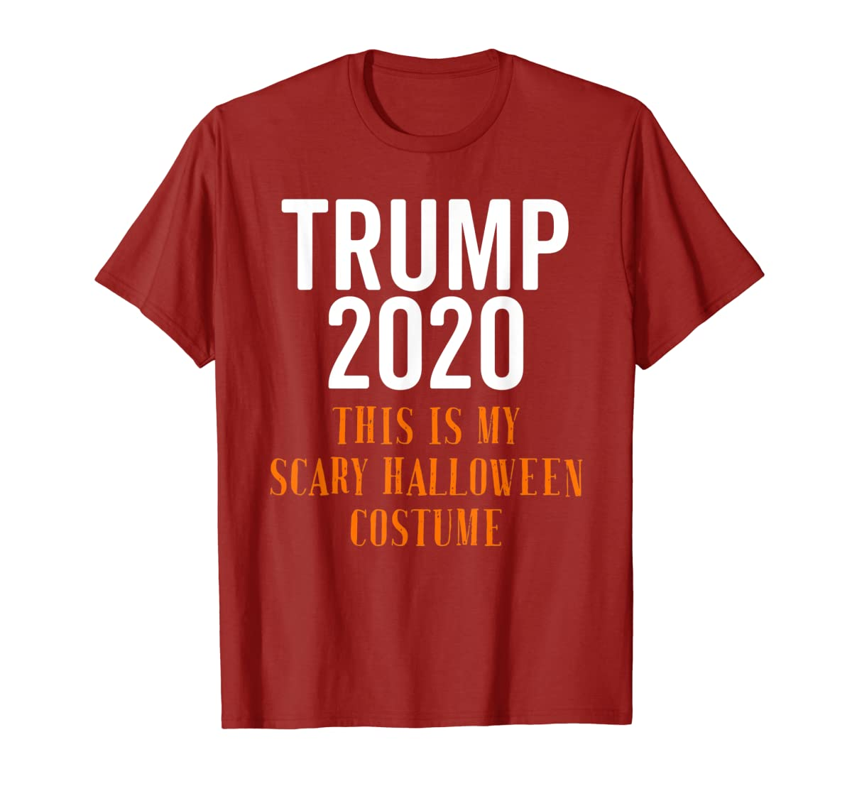 Scary Halloween No More Trump Funny Costume Anti Political T-Shirt-Men's T-Shirt-Red