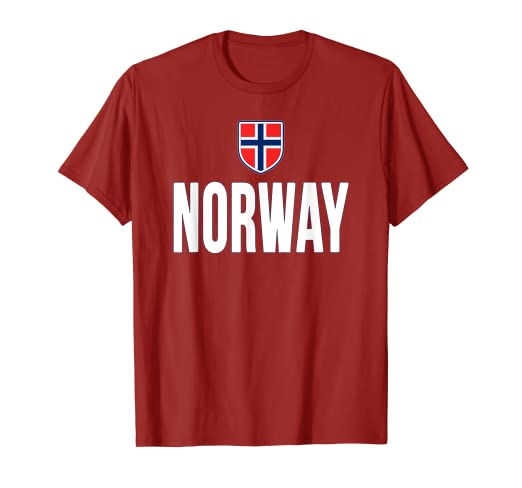 e502013e Image Unavailable. Image not available for. Color: Norway T-shirt Norwegian  Flag Gift Souvenir ...